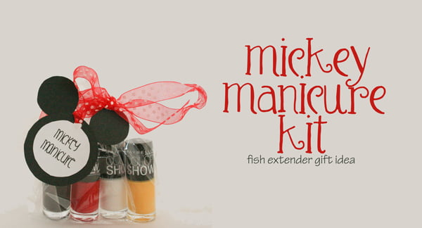 Mickey Manicure Kit Fish Extender Gift Idea Such The Spot