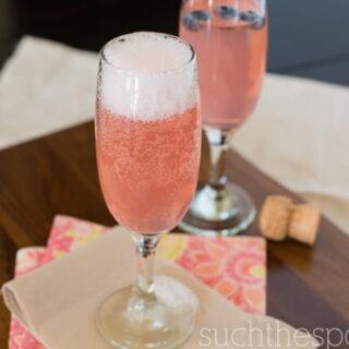 Kinky champagne cocktail