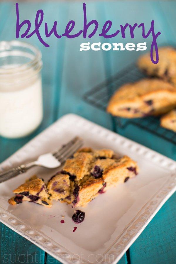Blueberry breakfast scones   Such the Spot