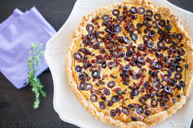 Goat cheese tart with kalamata olives | Such the Spot