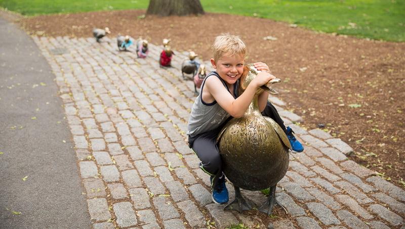 Make Way for Ducklings sculpture   Boston Public Garden