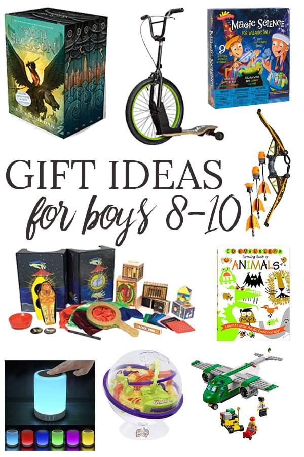 These gift ideas for boys ages 8-10 are perfect for techie, sporty, active and smart boys. There's something on this list for your son, grandson, nephew, neighbor or godson.