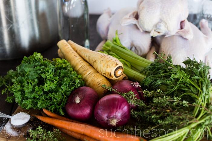 Homemade chicken stock recipe | Such the Spot