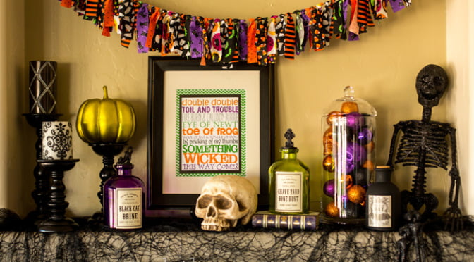 Halloween decorations & free subway art printable | Such the Spot