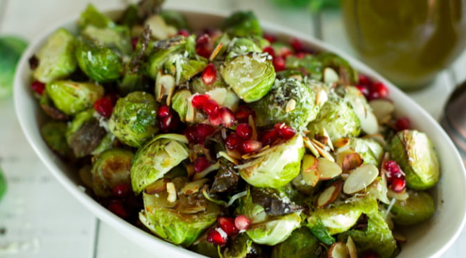 Parmesan herb roasted Brussels sprouts   Such the Spot