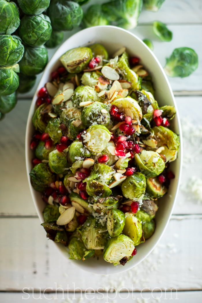 Parmesan herb roasted Brussels sprouts | Such the Spot