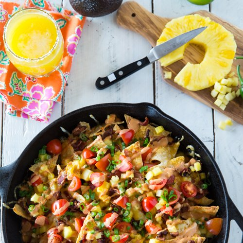 Bacon & Pineapple Nachos with Bbq Salsa