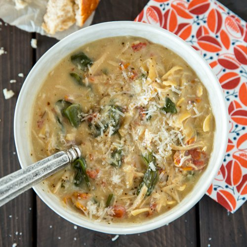Crockpot Chicken Florentine Soup
