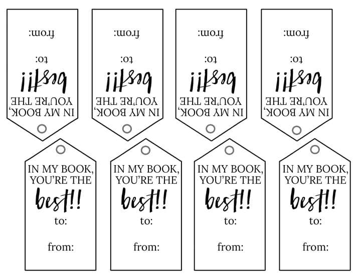 photograph relating to Printable Valentines Black and White called Valentine-Bookmarks-printable-impression - These the Vacation spot