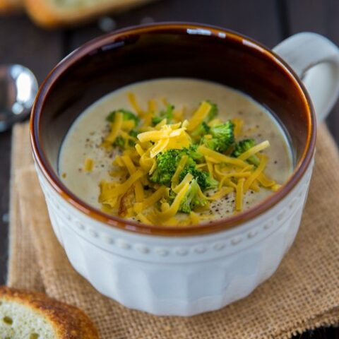 Broccoli & Cheddar Soup with Potatoes (better than Panera)!