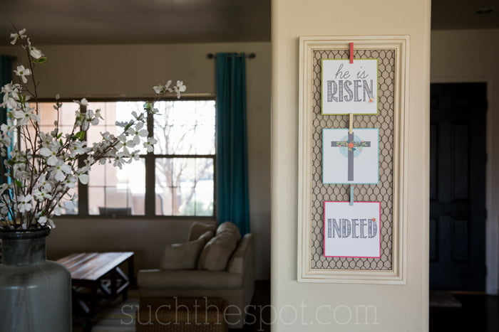 He is risen free Easter printable trio