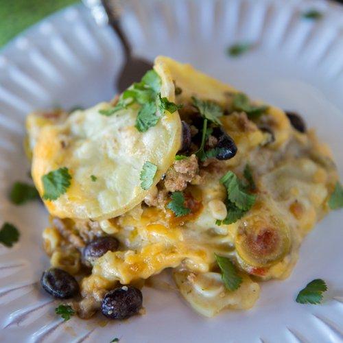 Mexican Potato Casserole Stack
