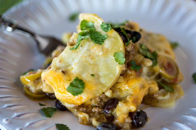 Mexican Potato Casserole Stack - The Ultimate Mexican Comfort Food!