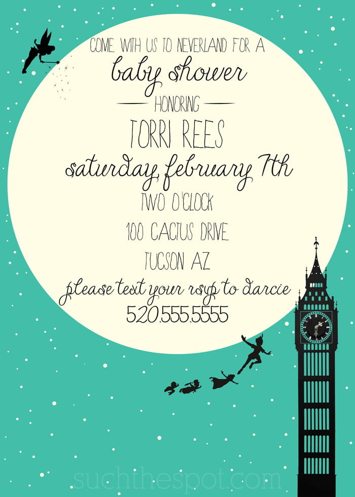 Peter Pan Baby Shower Invitations – gangcraft.net