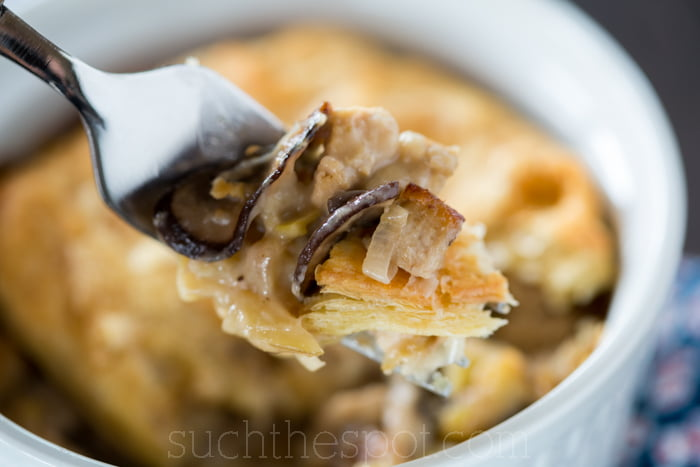Wild mushroom & chicken pot pie (Raglan Road - Pie in the Sky copycat)
