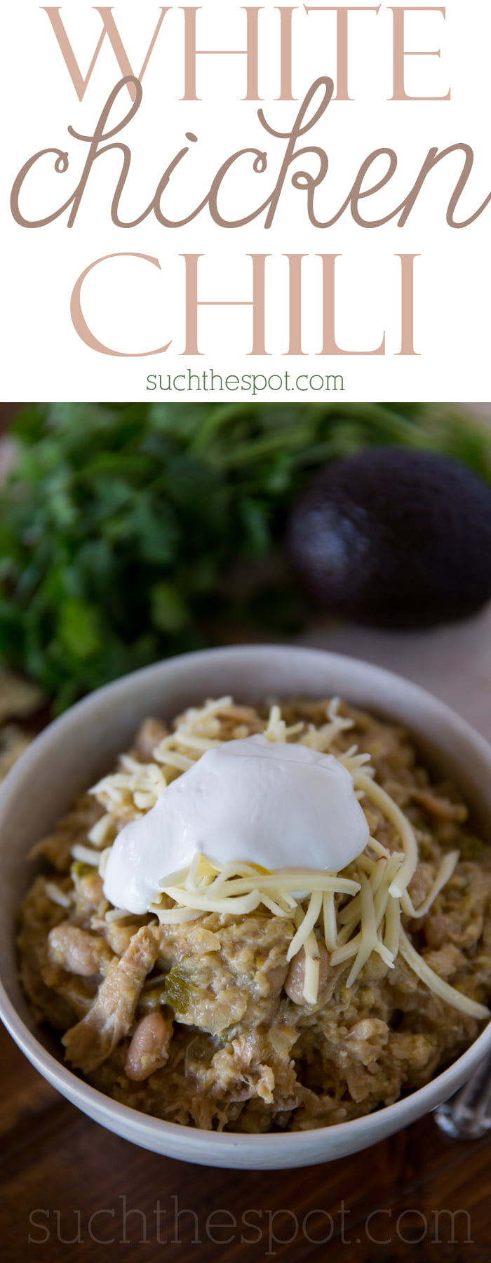 Crock-pot white chicken chili