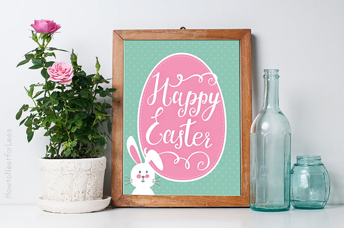 Free Easter Printables - super cute ideas for free decor, gifting & games