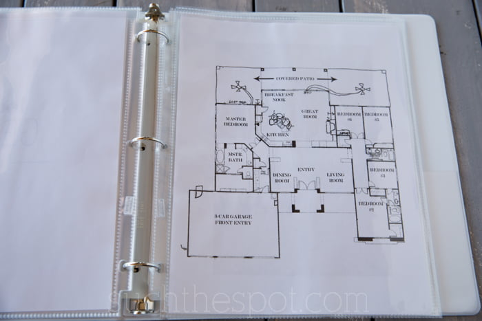 How to create a staging binder to help sell your house for Home construction binder
