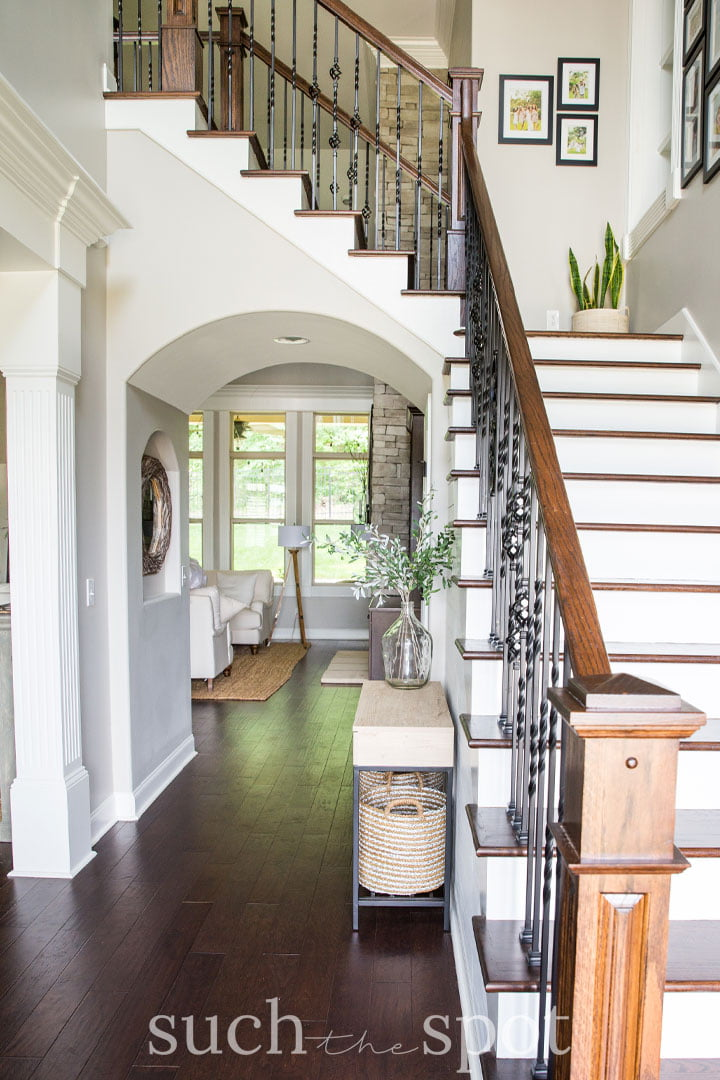Entryway in a stage home for real estate sale
