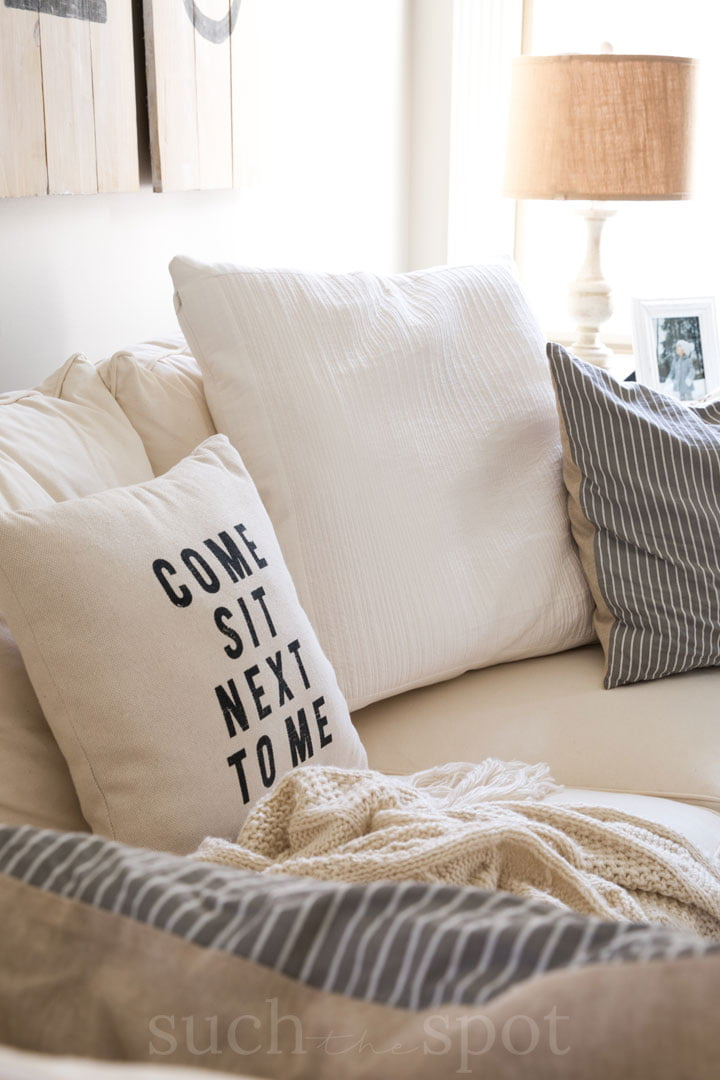 cozy corner in a home staged for real estate sale