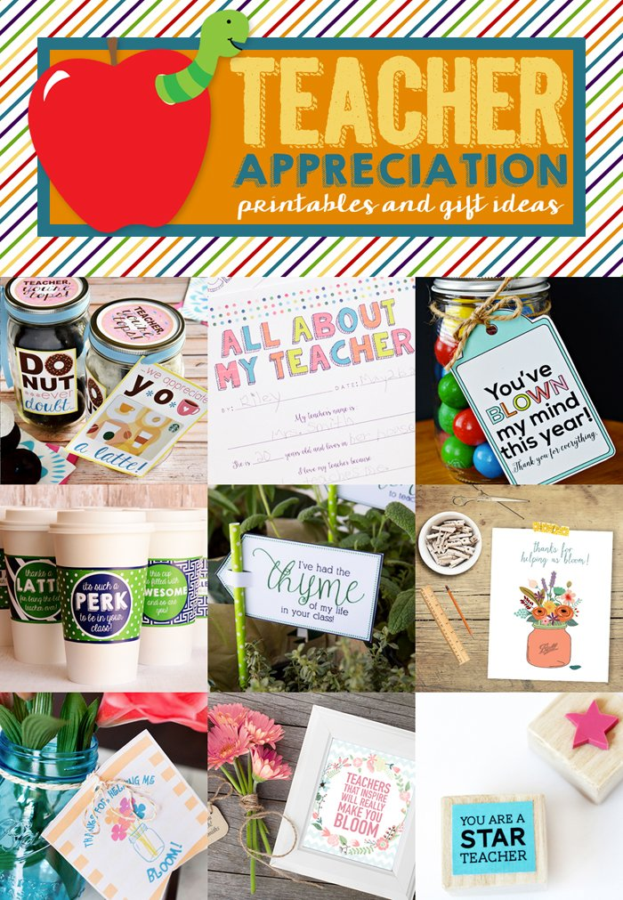 Teacher Appreciation Printables and Gift Ideas