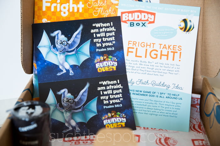 Building a child's faith through a monthly subscription box Buddy Box