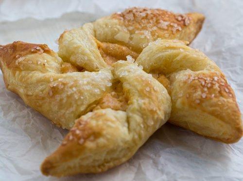 Pumpkin cream cheese pinwheel pastry