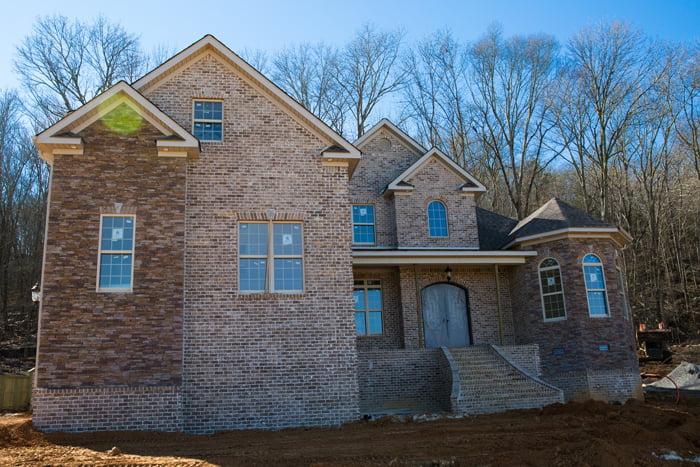 New home construction progress