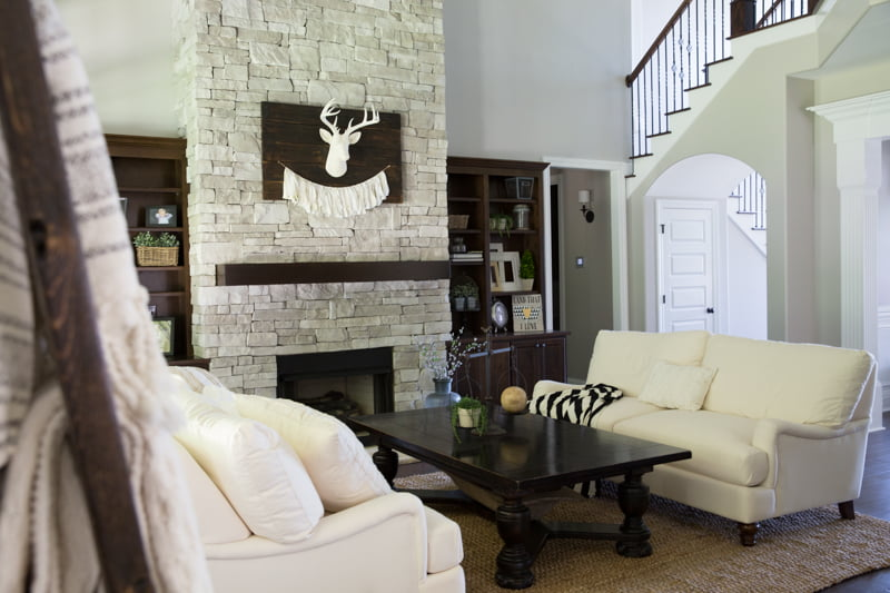 Farmhouse style great room   Such the Spot