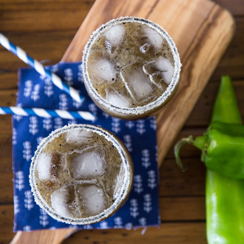 Grilled Pineapple and Hatch Chile Margarita Recipe