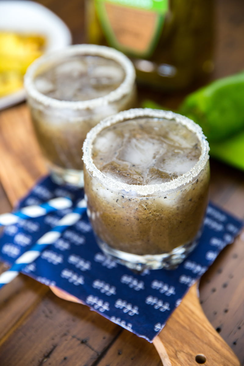 Grilled pineapple & Hatch chili margarita recipe