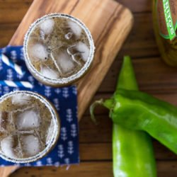 Grilled pineapple and Hatch chili margarita