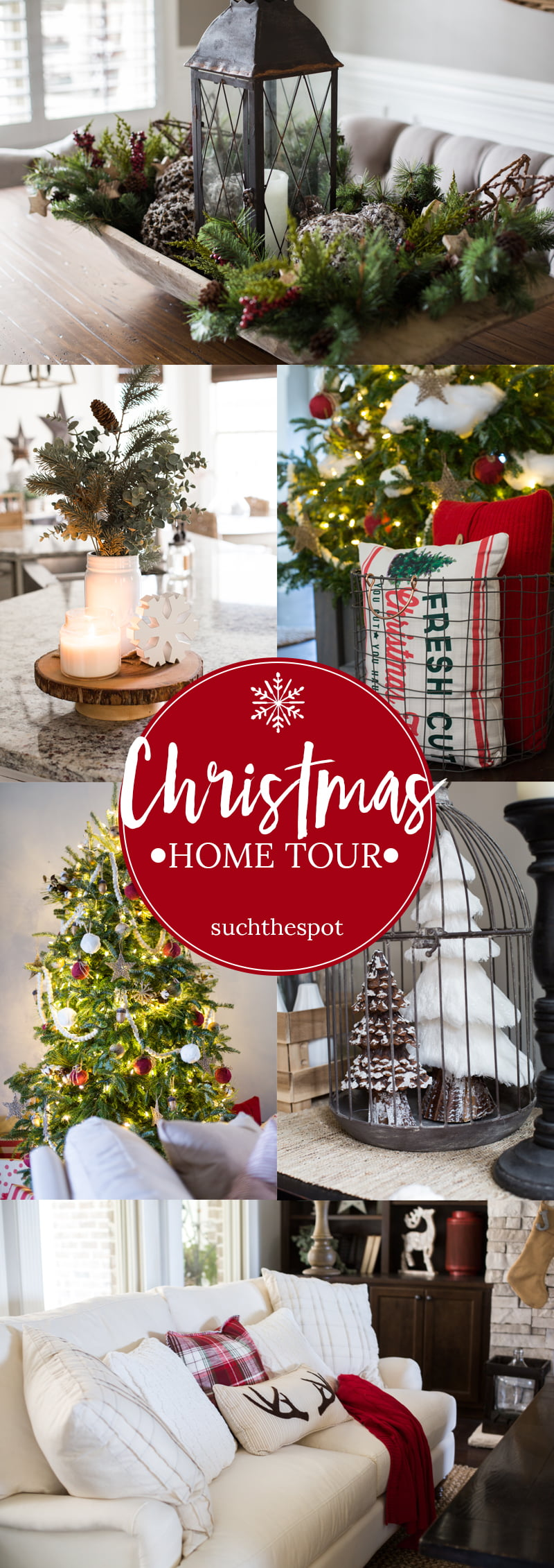 Christmas Decor Ideas - We went rustic and cozy for our decor this year with lots of texture and light. Here's a peek inside.