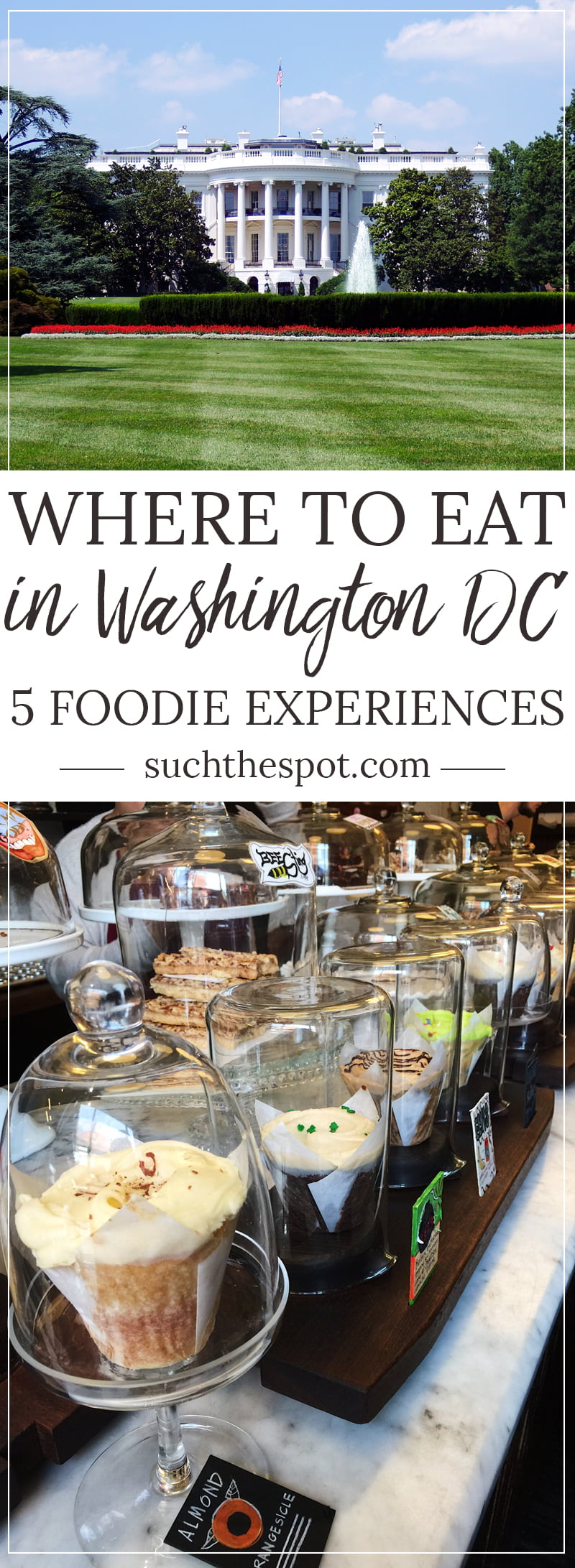 There's more to DC than monuments and museums. These five must-do foodie experiences take you from cocktails to cupcakes in a foodie bucket list that you have to try during your visit to DC.