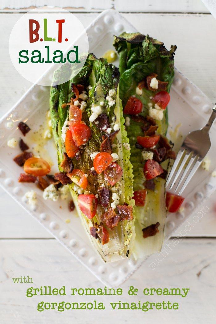 BLT Grilled Romaine Salad