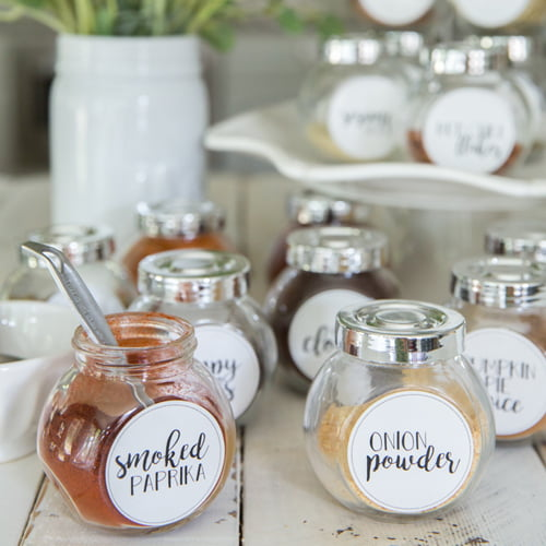 free printable spice jar labels organized spice rack