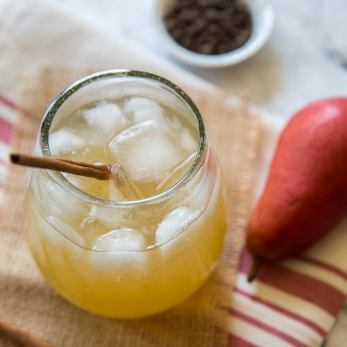 Hands down, this is my absolute favorite margarita recipe. It brings together the flavors of warm fall baking spices with crisp pear and makes for the perfect sipping cocktail all season long.