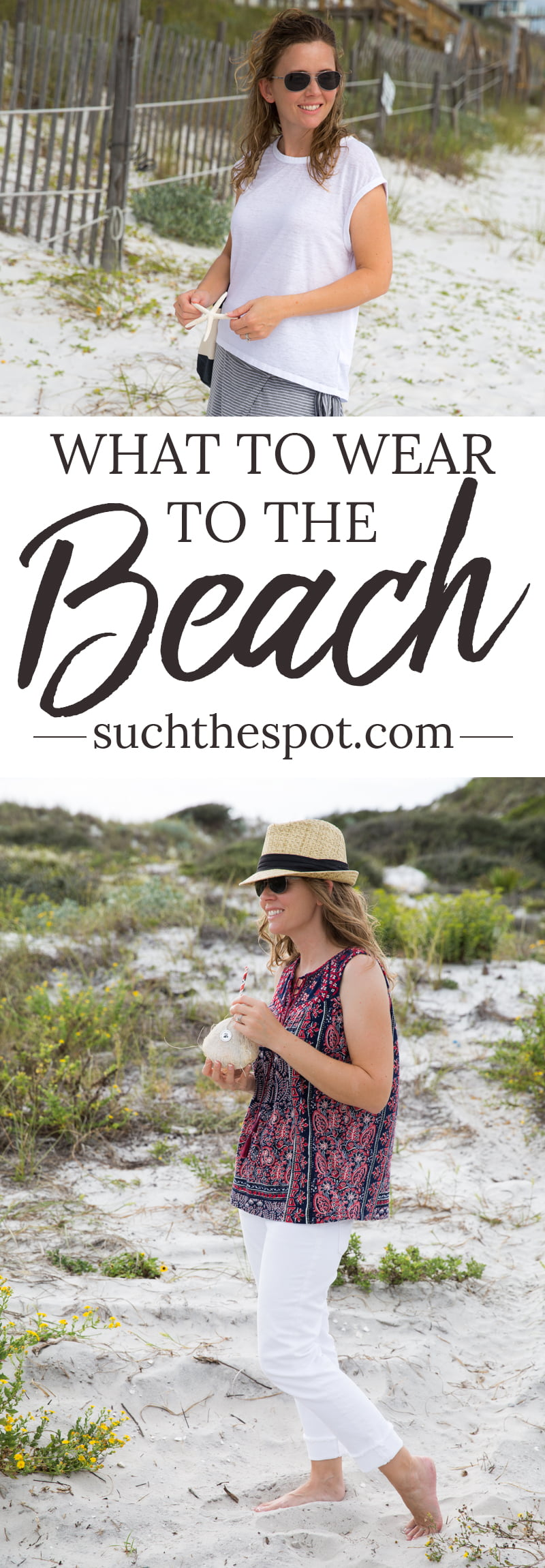 Beach fashion is made super simple with these beach trip outfit ideas. These cute and casual looks are sure to inspire your next beach vacation packing list.