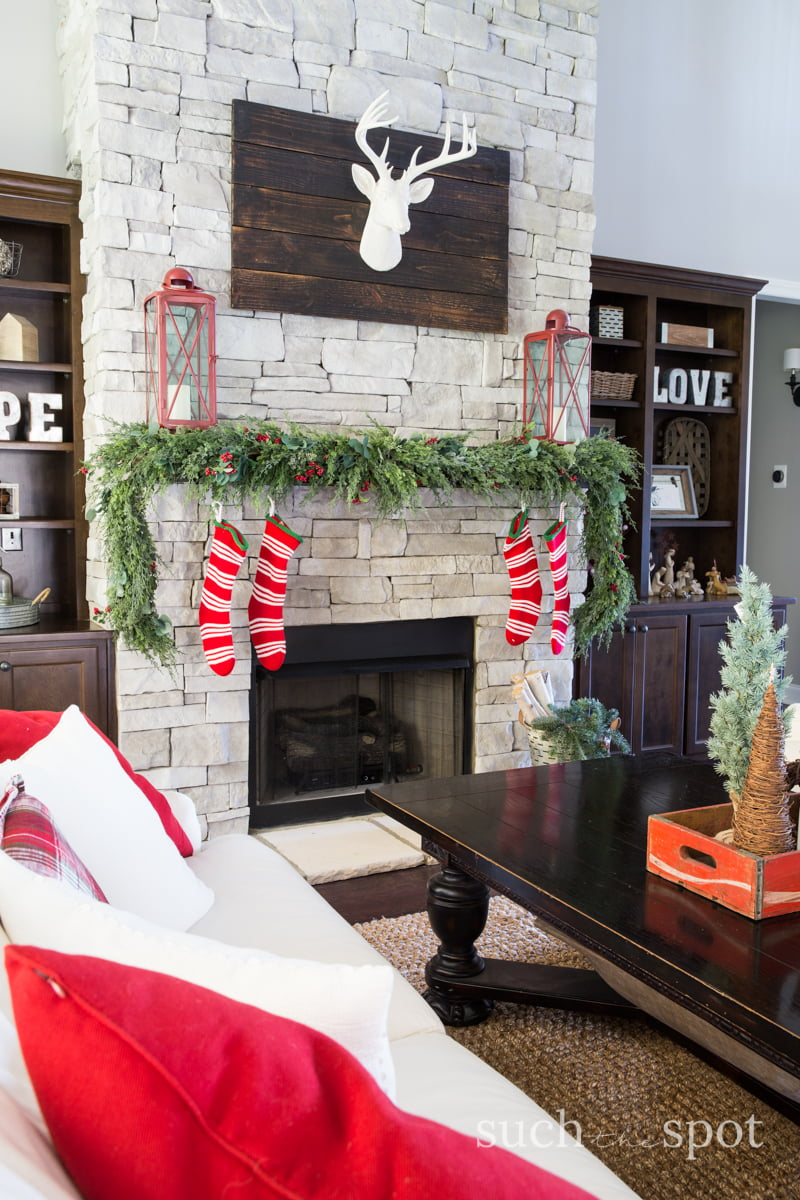 christmas home decor ideas i went a little rustic and a little white christmas in - Christmas Home Decor Ideas