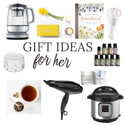 Here's your go-to gift guide for the hard-to-shop-for woman on your gift list this year. Full of gift ideas for mom, grandma, sister and bestie, this holiday gift guide has you covered. #Christmas #Christmasgifts #Giftsforher #giftguide #giftideas