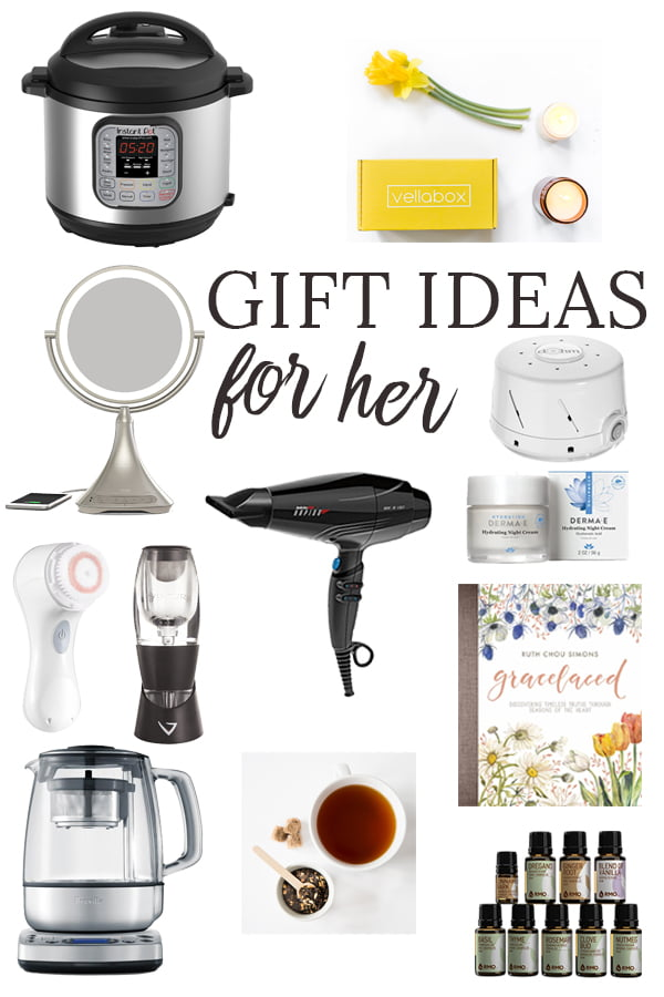 Is there a hard-to-shop-for woman on your gift list this year? These gift ideas for women include great finds for your mom, grandma, sister, aunt or bestie. #Christmas #Christmasgifts #Giftsforher #giftguide #giftideas