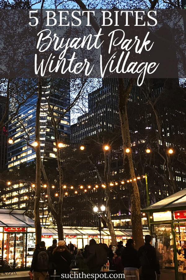 No visit to the Winter Village at Bryant Park is complete without tasting these five foodie favorite bites from artisan booths. Skip sitting down for dinner and make a meal of snacking your way around this awesome holiday market in New York City.