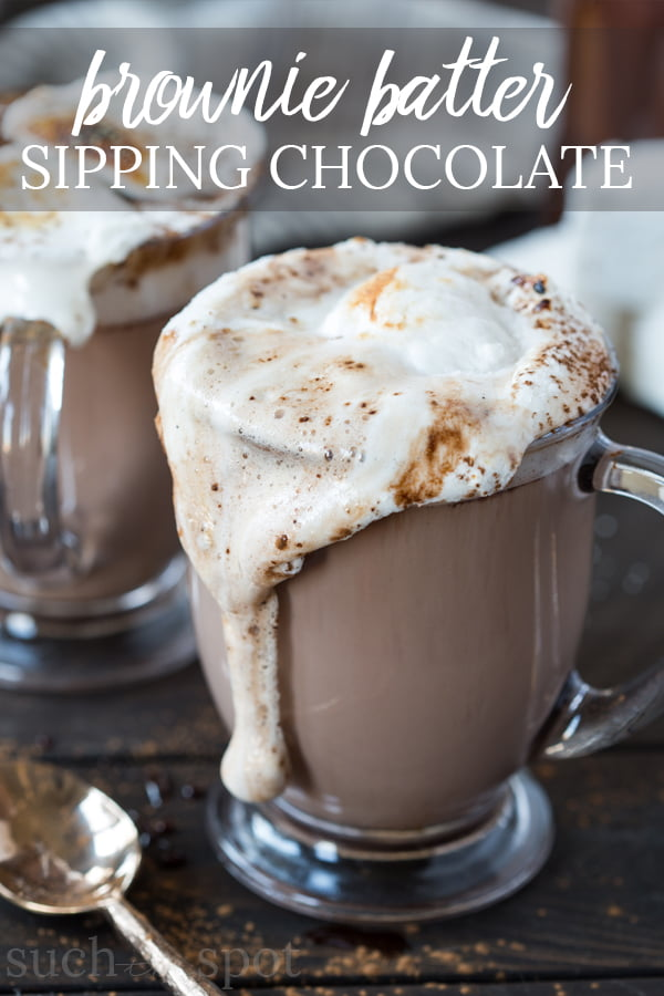 This Brownie Batter Sipping Chocolate is no mere cocoa mix. Rich and silky smooth, this is an indulgent treat perfect for cold winter days. Something this easy to make shouldn't taste so divine. But it does.
