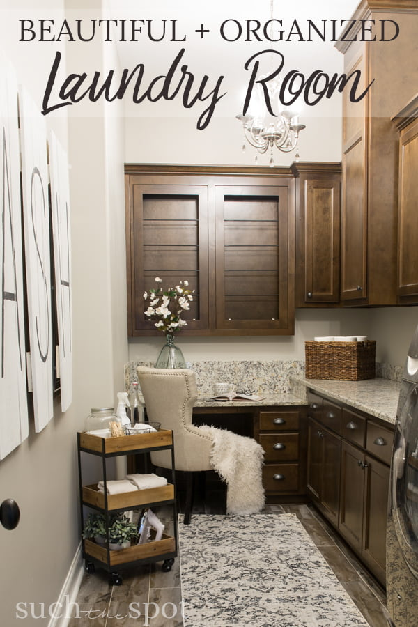 This beautiful and organized laundry room offers so many ideas for disguising a room's flaws and necessities. The makeover reveals form, function and amazing design.