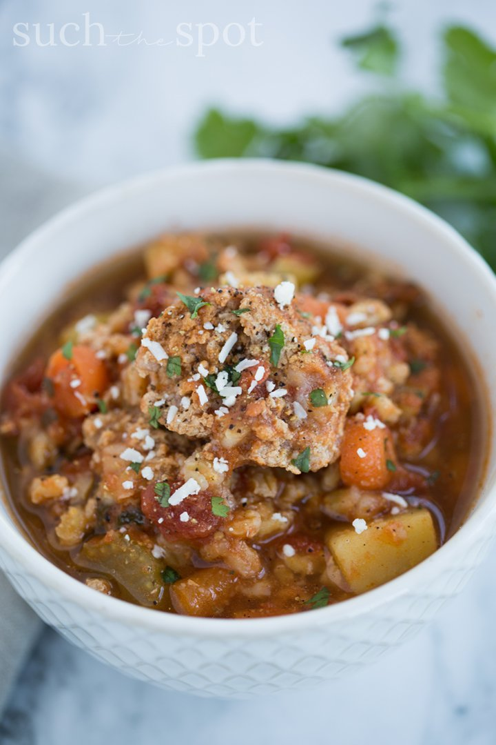 This Mexican Meatball and Barley Soup is perfect for a cold weather dinner. It's both hearty and flavorful and because it's made in the Instant Pot it's also quick and easy. If you're looking for a new soup to add to your meal rotation, give this one a try. It's SO good.