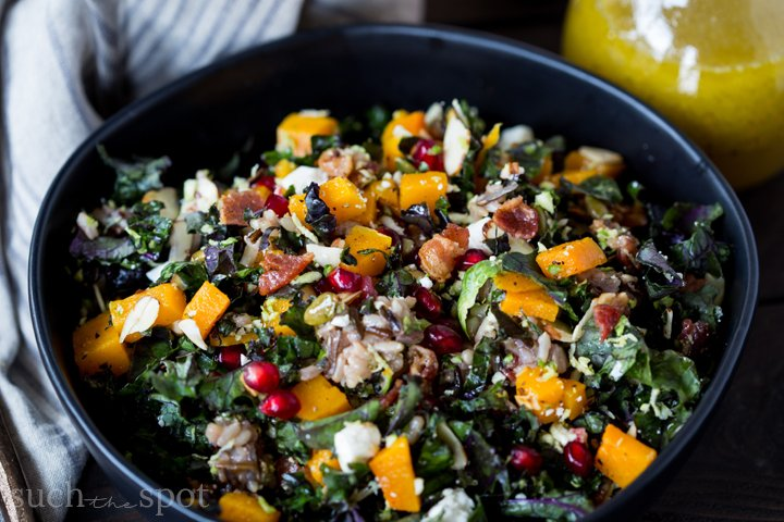 This Warm Winter salad is the perfect hearty meal for when you're craving something fresh and satisfying. It brings colorful winter vegetables together with favorite winter flavors for a delicious, wholesome meal.