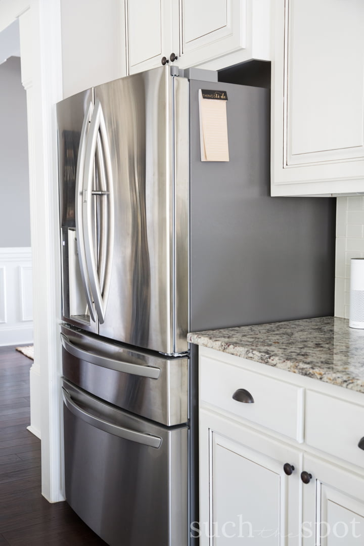 Large stainless steel double door refrigerator