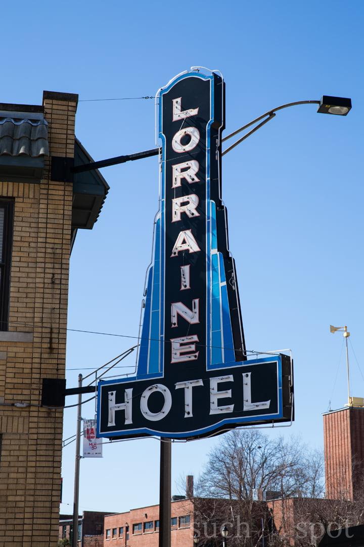 Lorraine Hotel sign in Memphis