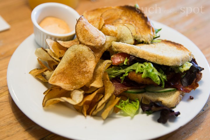 sandwich with homemade chips