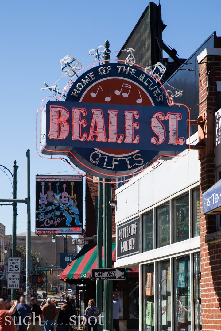 Beale Street neon sign in Memphis